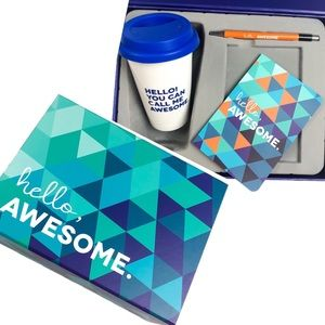 Other - 'Hello, Awesome' Baudville Welcome Gift Box Blue